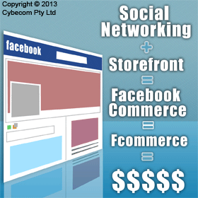 Social Networking + Storefrong = Facebook Commerce = Fcommerce = $$$$$